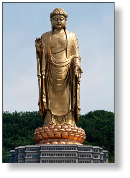 153 m high Buddha-Statue in Lushan/China