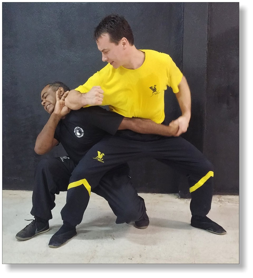 Self defense drills of Dragos Wing Tsun. Dai Sifu Martin Dragos