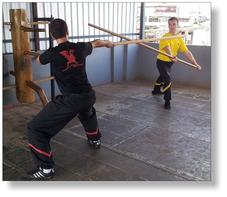 Long Pole of Wing Tsun. The origins of the Luk Dim Boon Kwan Long Pole techniques are at the Shaolin Temple, which was famous for the staff techniques