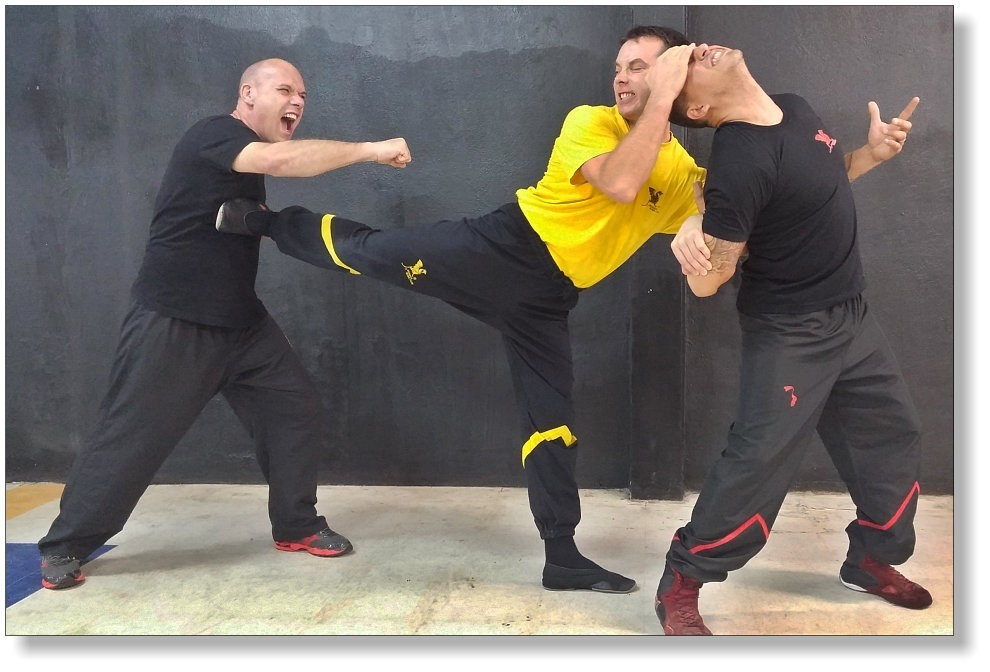 Defense against two attackers - Sifu Martin Dragos, WingTsun