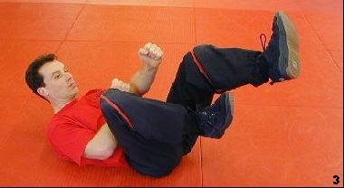 Wing Tsun Exercise 79 - Chain Kicks, Fig. 3