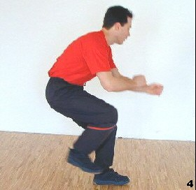 Wing Tsun Lesson 15, Fig. 4 - He pushes with his left leg
